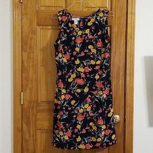Liz Claborne Fiitted Floral Print Dress